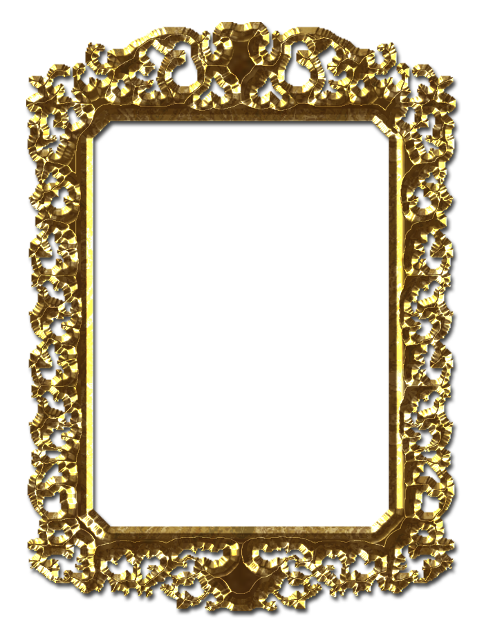 Gold frames png. Frame file by theartist