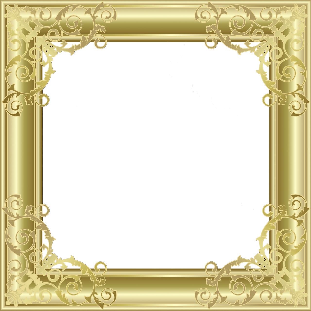 Photo frame png file download. Gold transparent gallery yopriceville