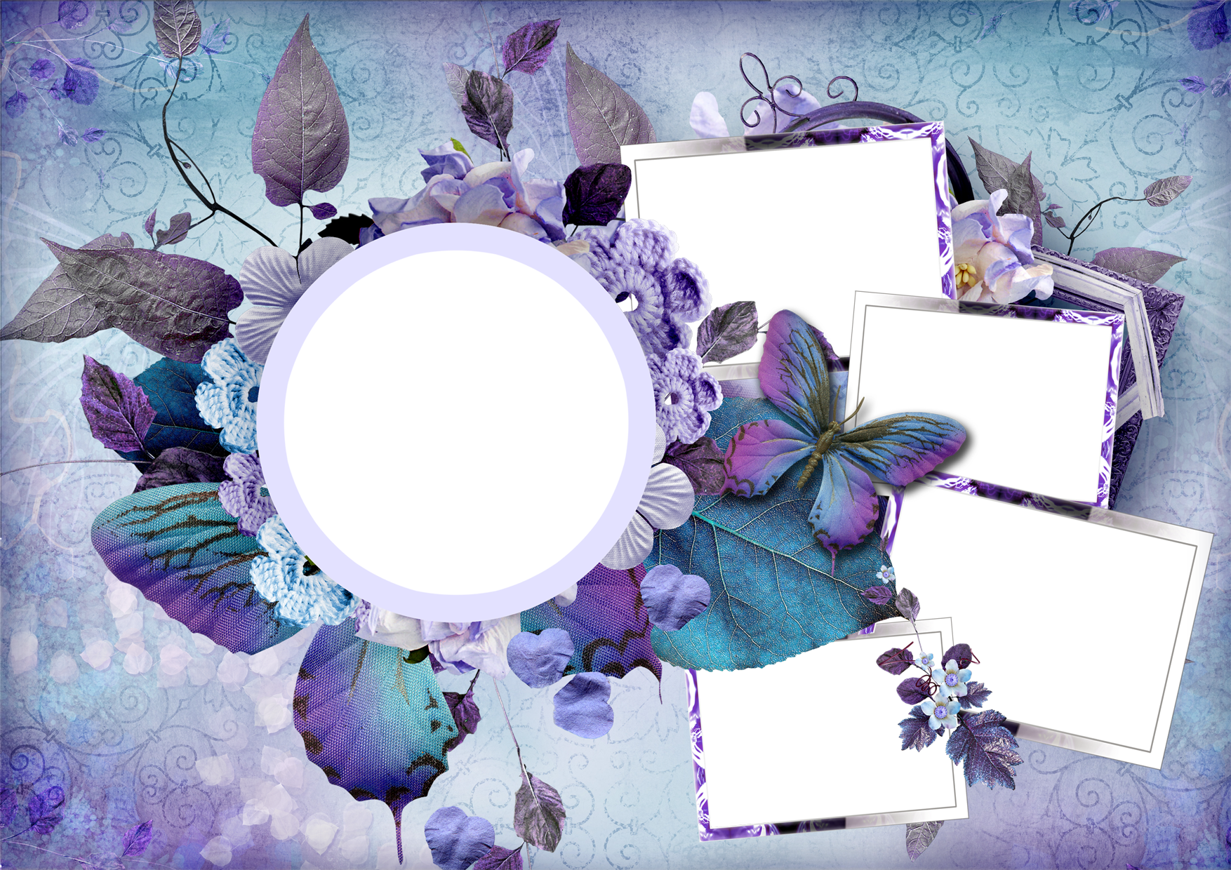 Photo frame png format free download. Flower psd vector best