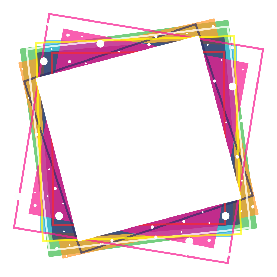 Png photo frames. Colorful