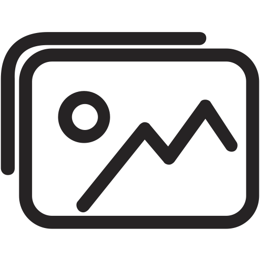 Photo gallery icon png. Outline ico svg more