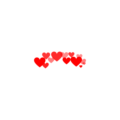 Photobooth hearts png. Made my me uploaded