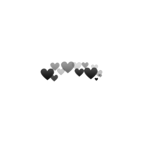 Photobooth hearts png. Made by me silver