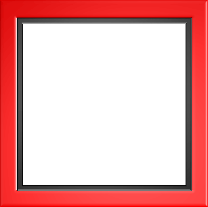 Photograph border png. Red frame photo mart