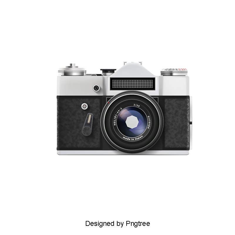 Camara vector vintage camera. European style exquisite clipart