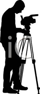Photograph clipart camera shot. Silhouette clip art at
