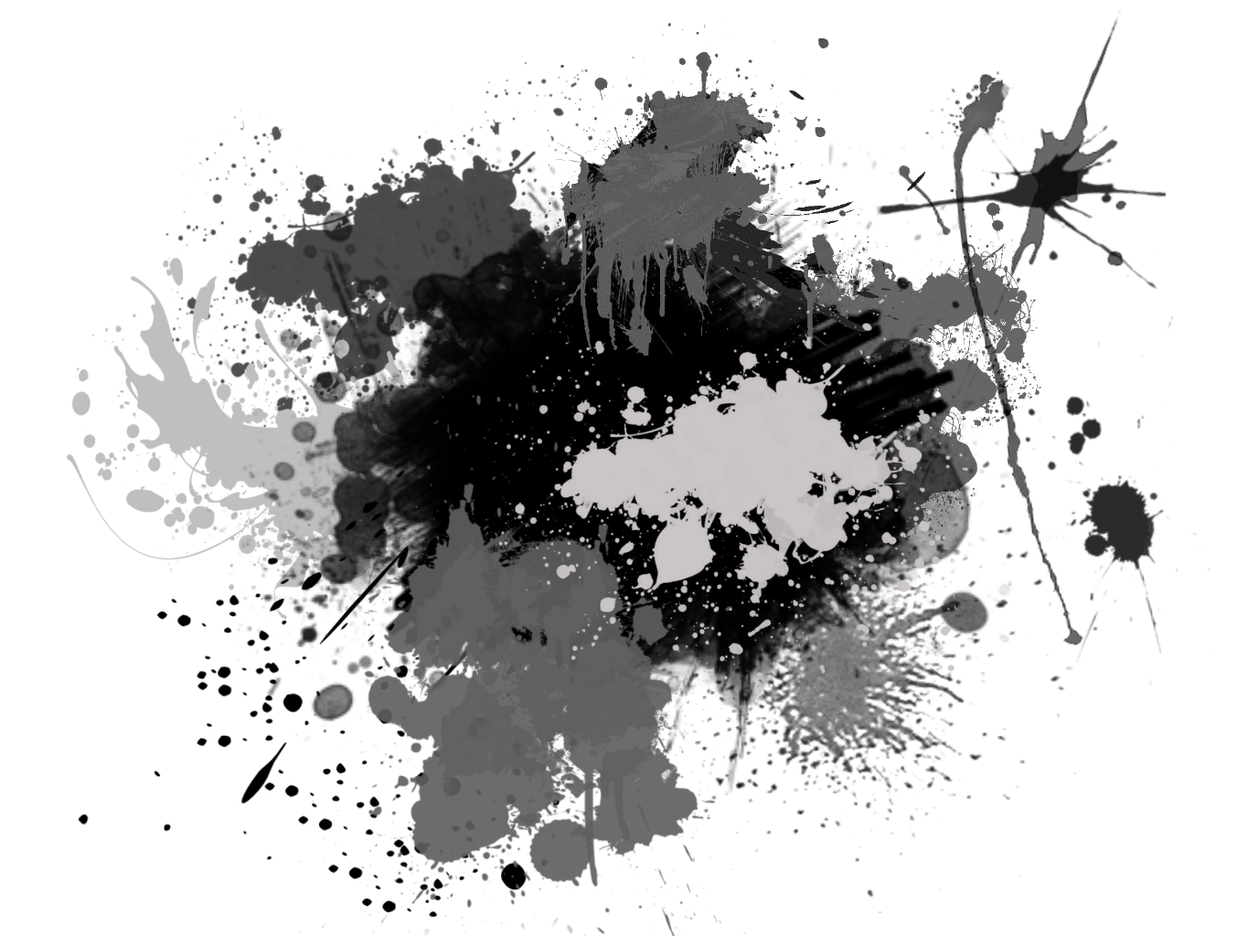 Ink splash transparent background png I put together