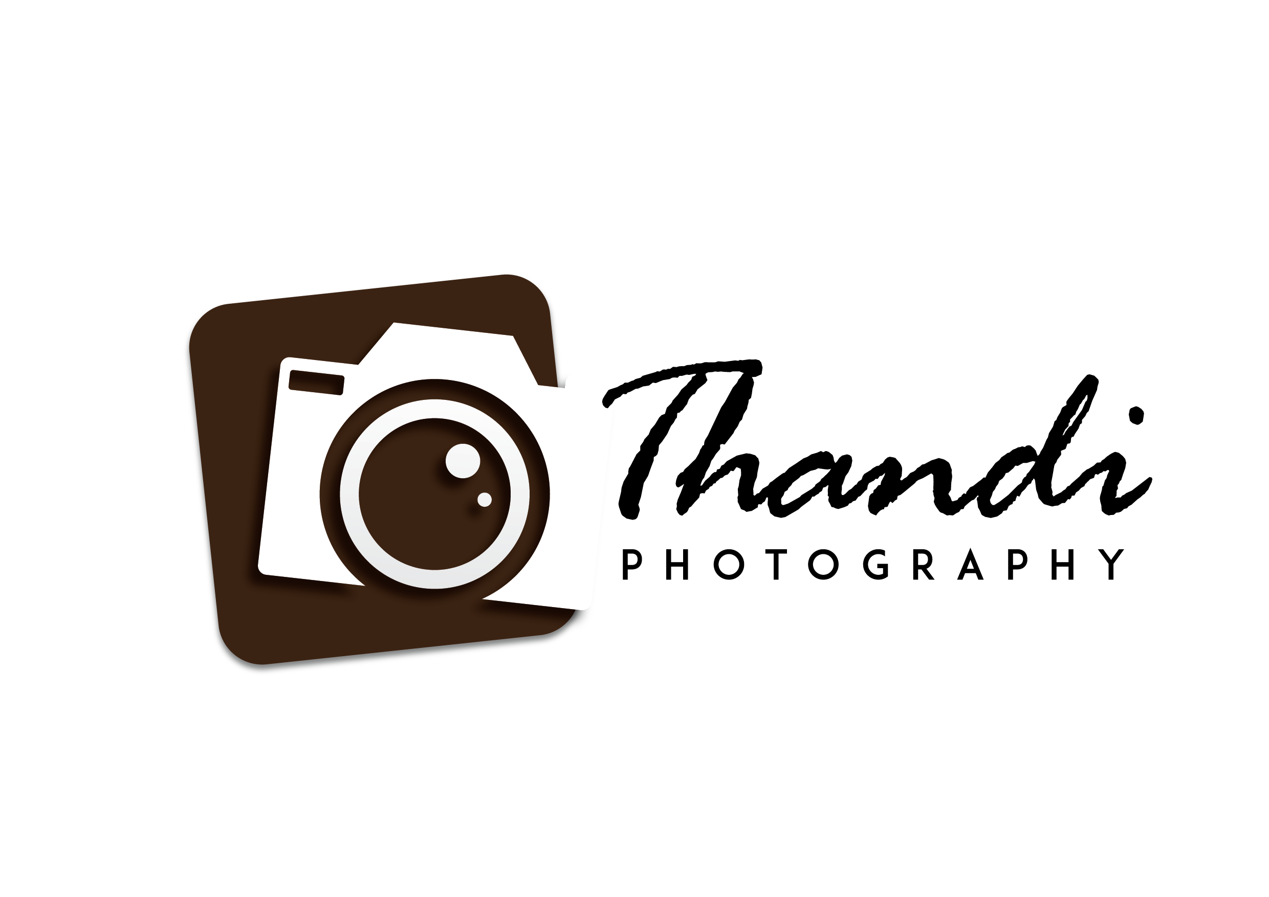 Photography camera logo design png. Thandi visible online thandiphotography