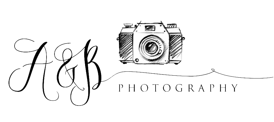 Photography camera logo png. A b newborn puyallup