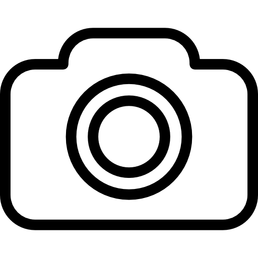Vector outline camera. Photo icons free download