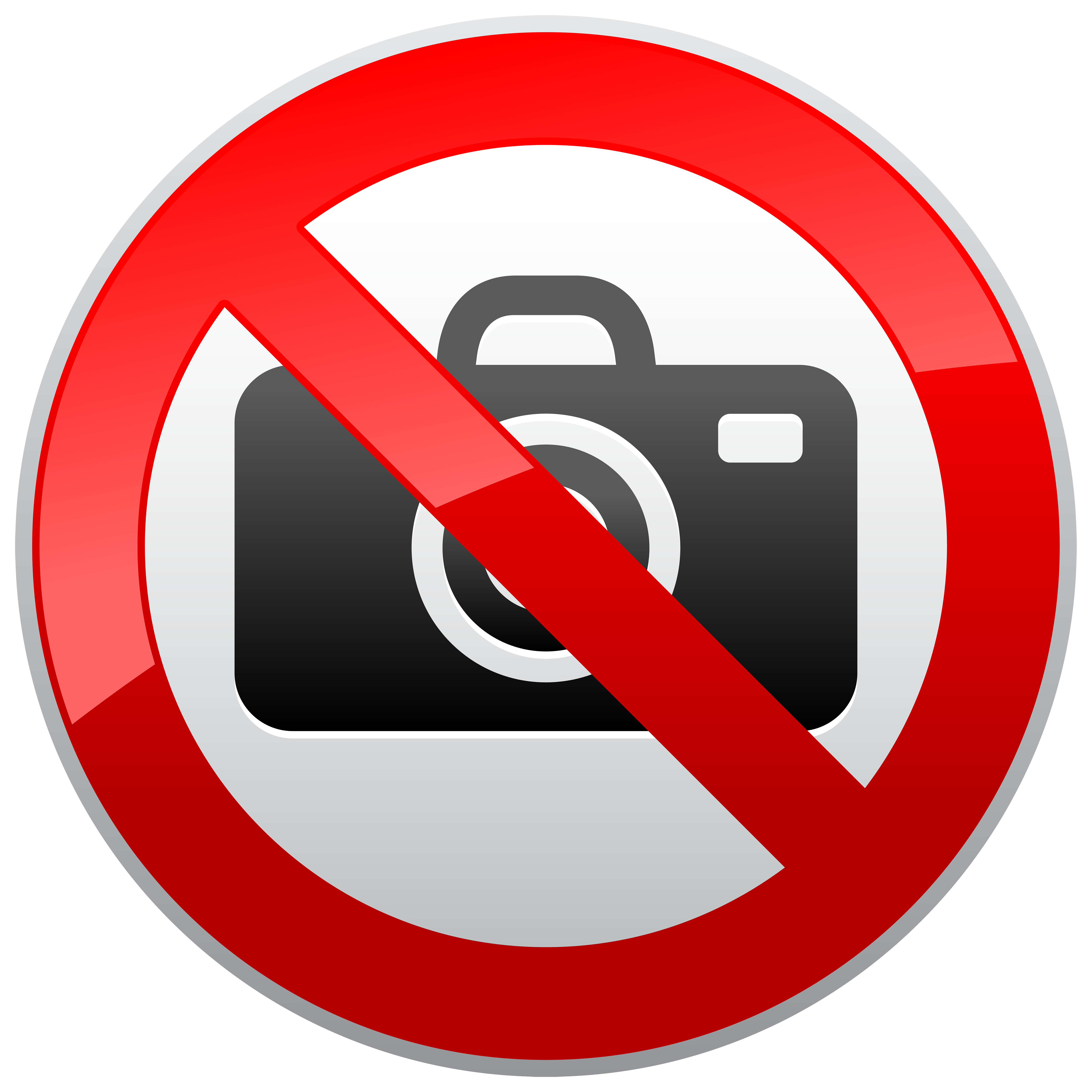Photography clip art png. No prohibition sign clipart