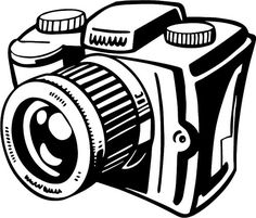 photography clipart black and white