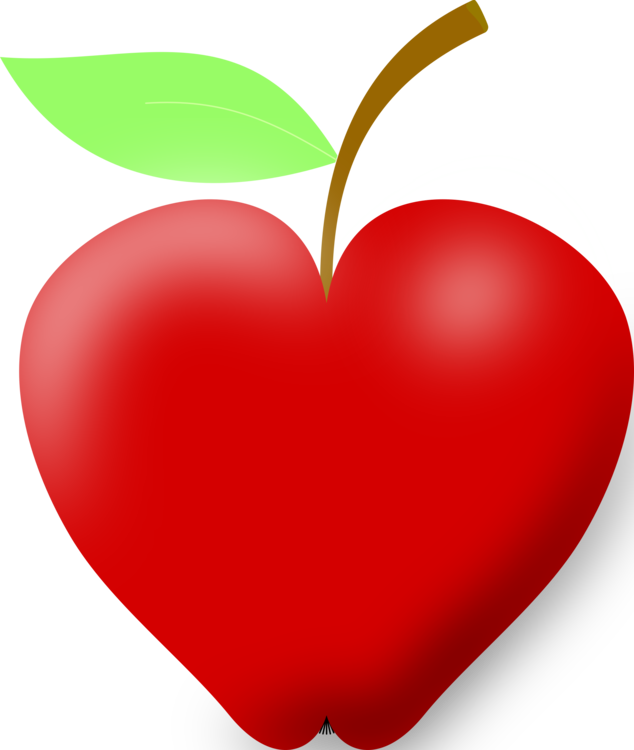 Heart apple drawing blog