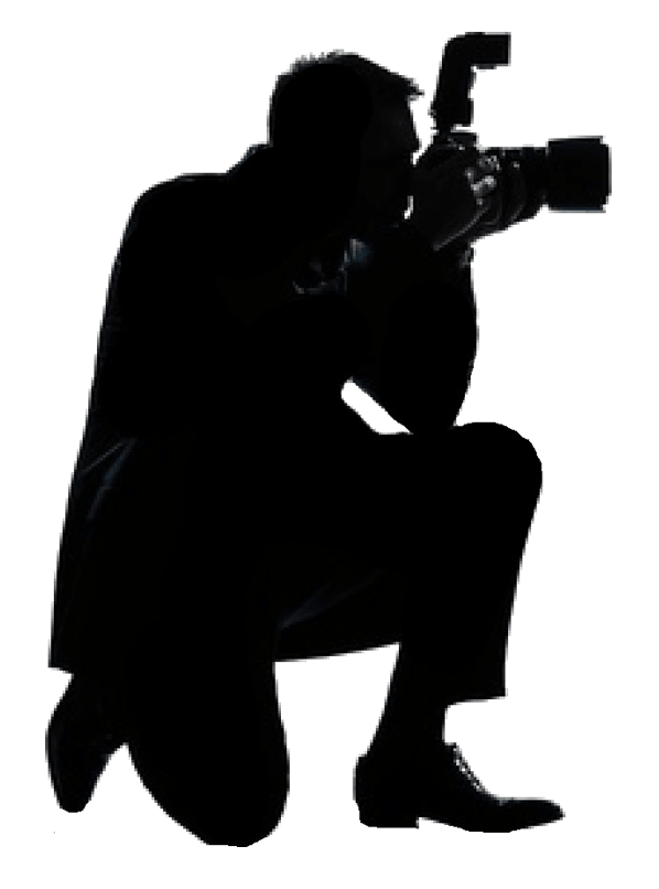 Photo png. Photographer with camera silhouette