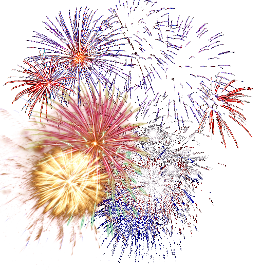 New year fireworks png. Animated hd transparent image