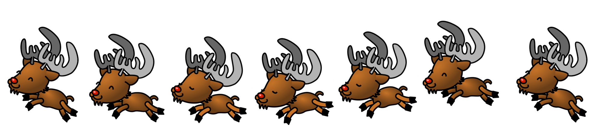 collection of reindeer. Dancing clipart easy clip library download
