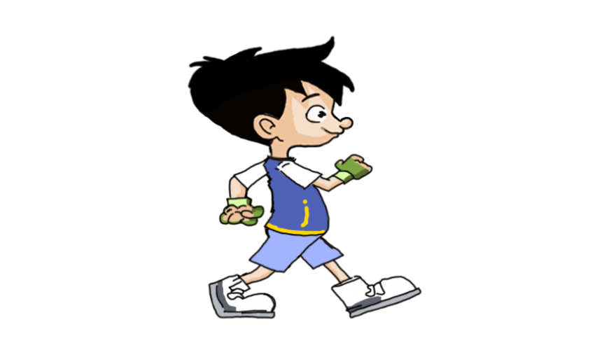 Photoshop animated png. Run boy character animations