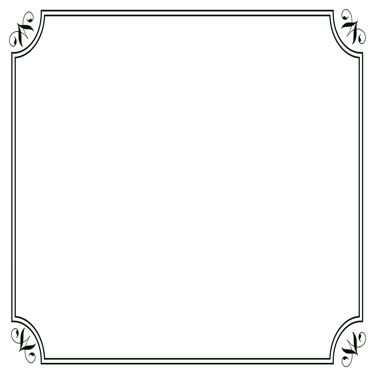 Photoshop borders png. Black border frames frame