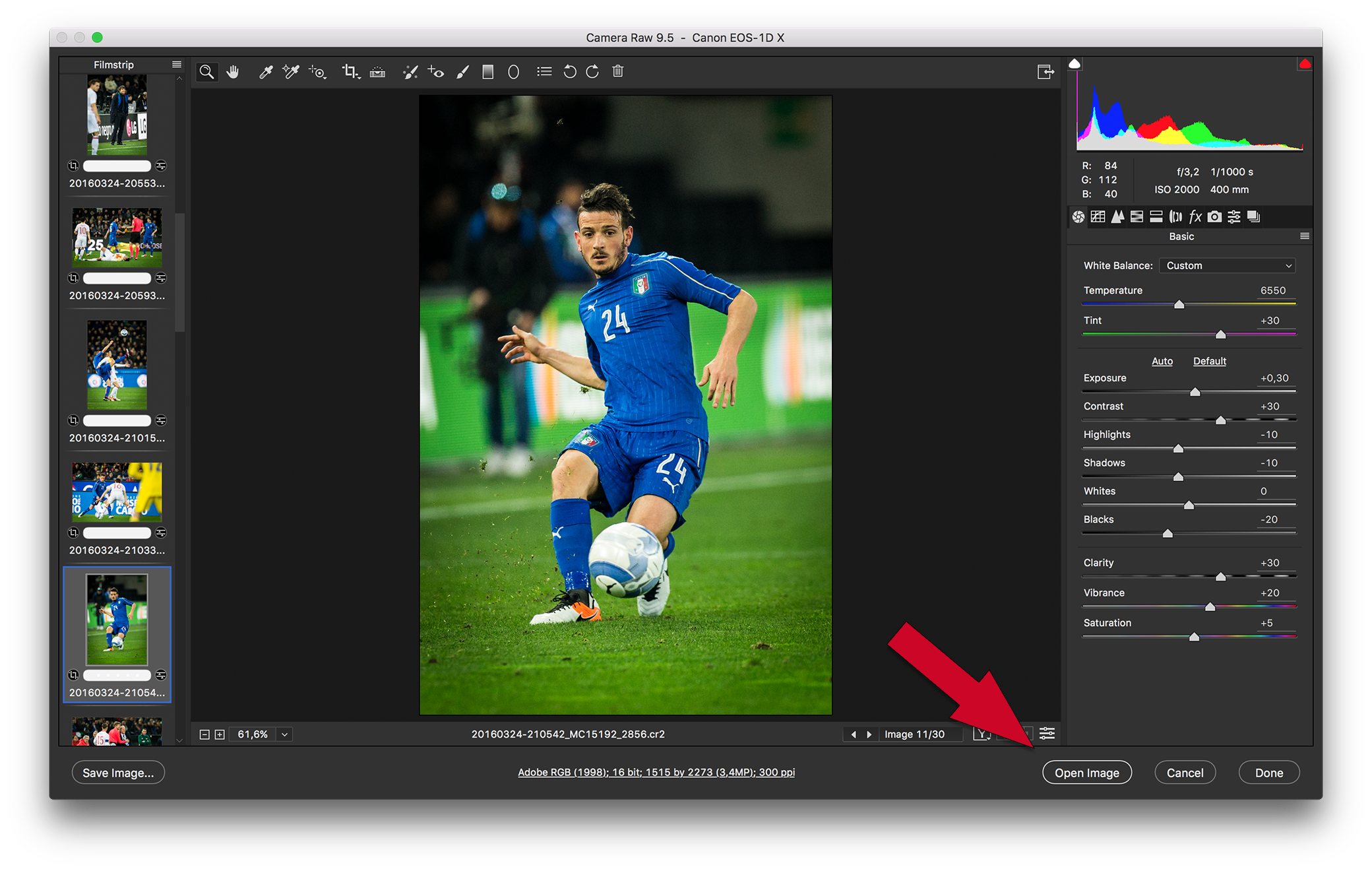 Photoshop open png. In as smart object