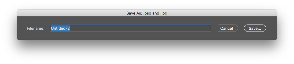 Photoshop png interlaced. Shortcut for file save