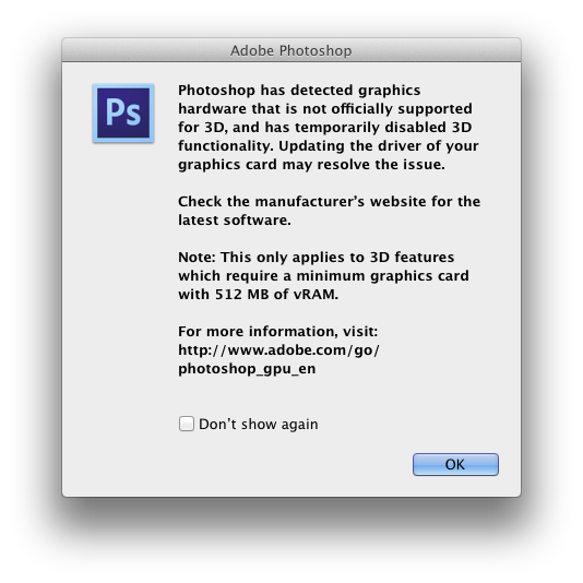 Photoshop png interlaced meaning. Heads up system requirement