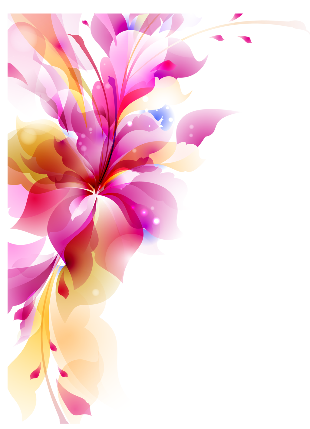 Photoshop png transparent. Abstract flower transparentpng