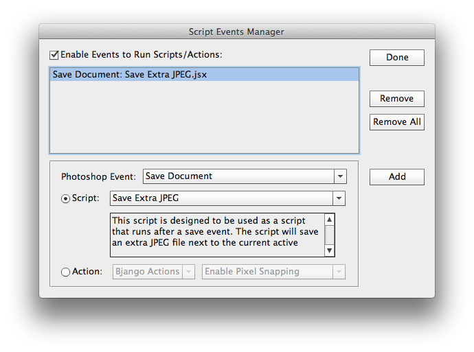 Batch export png photoshop. Scripting when saving as