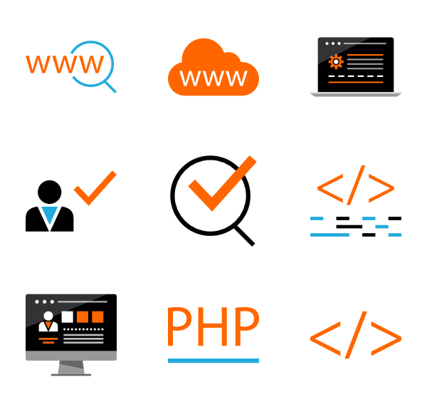 Php vector web. Programming languages icon