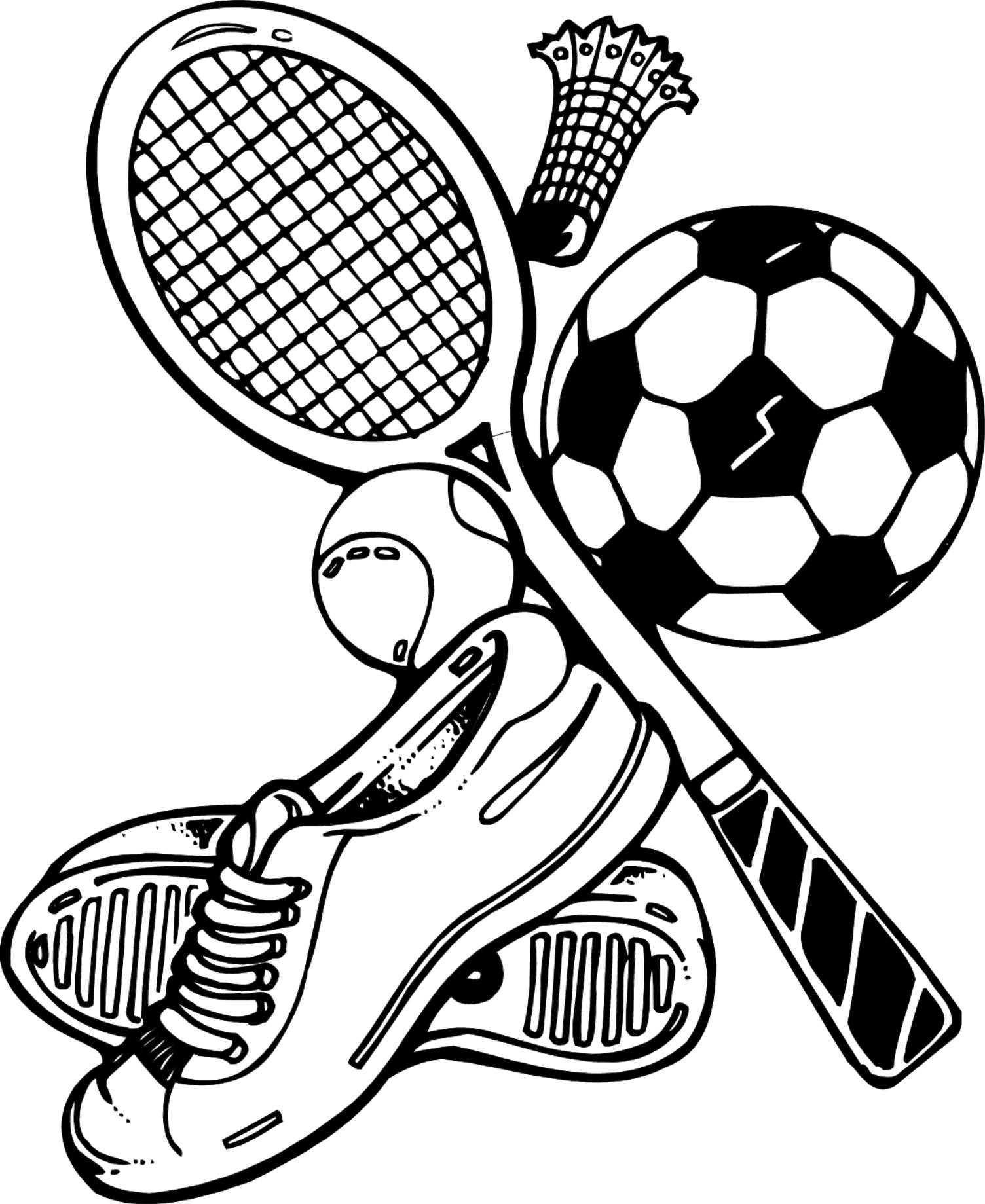 Physical drawing at getdrawings. Cool clipart sport vector black and white stock