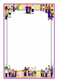 Physical clipart border design. Science week a page
