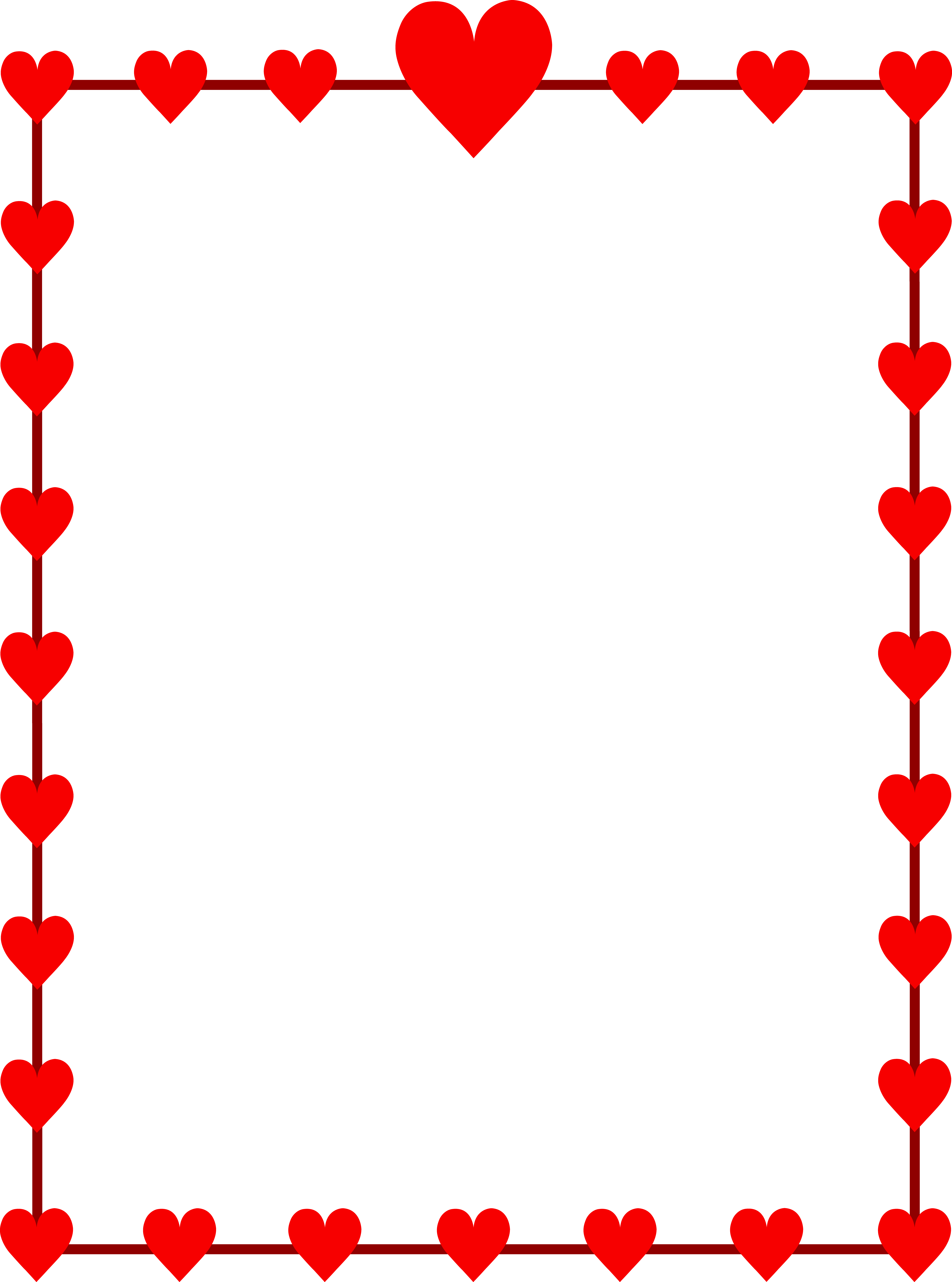 Physical clipart border design. Free heart for word
