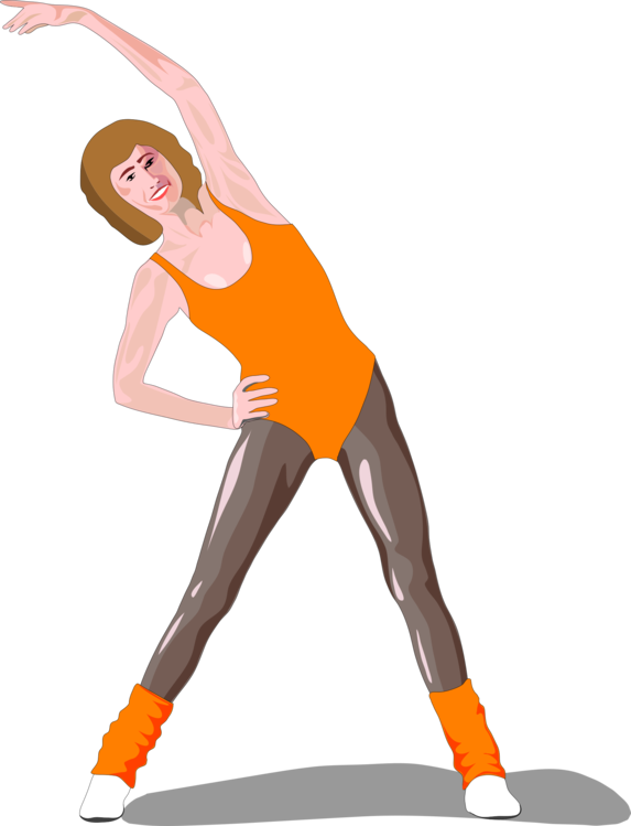 Stretching clipart regular exercise. Aerobic physical fitness aerobics
