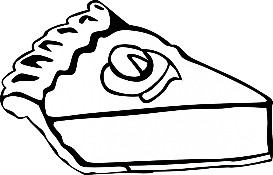 Black and white clip. Pi drawing apple pie vector free library