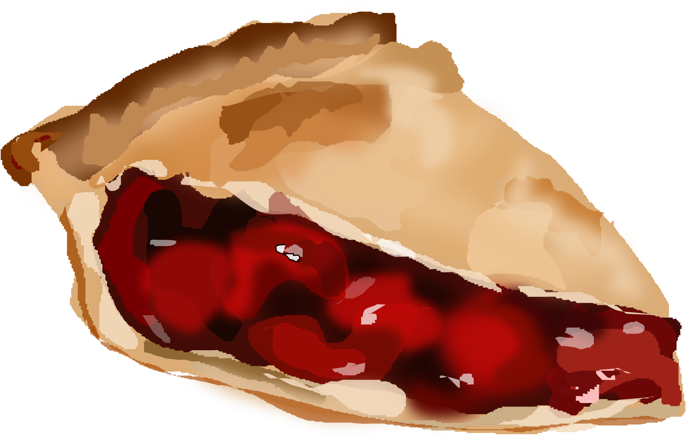 Pi drawing cherry pie. Clipart slice of illustration