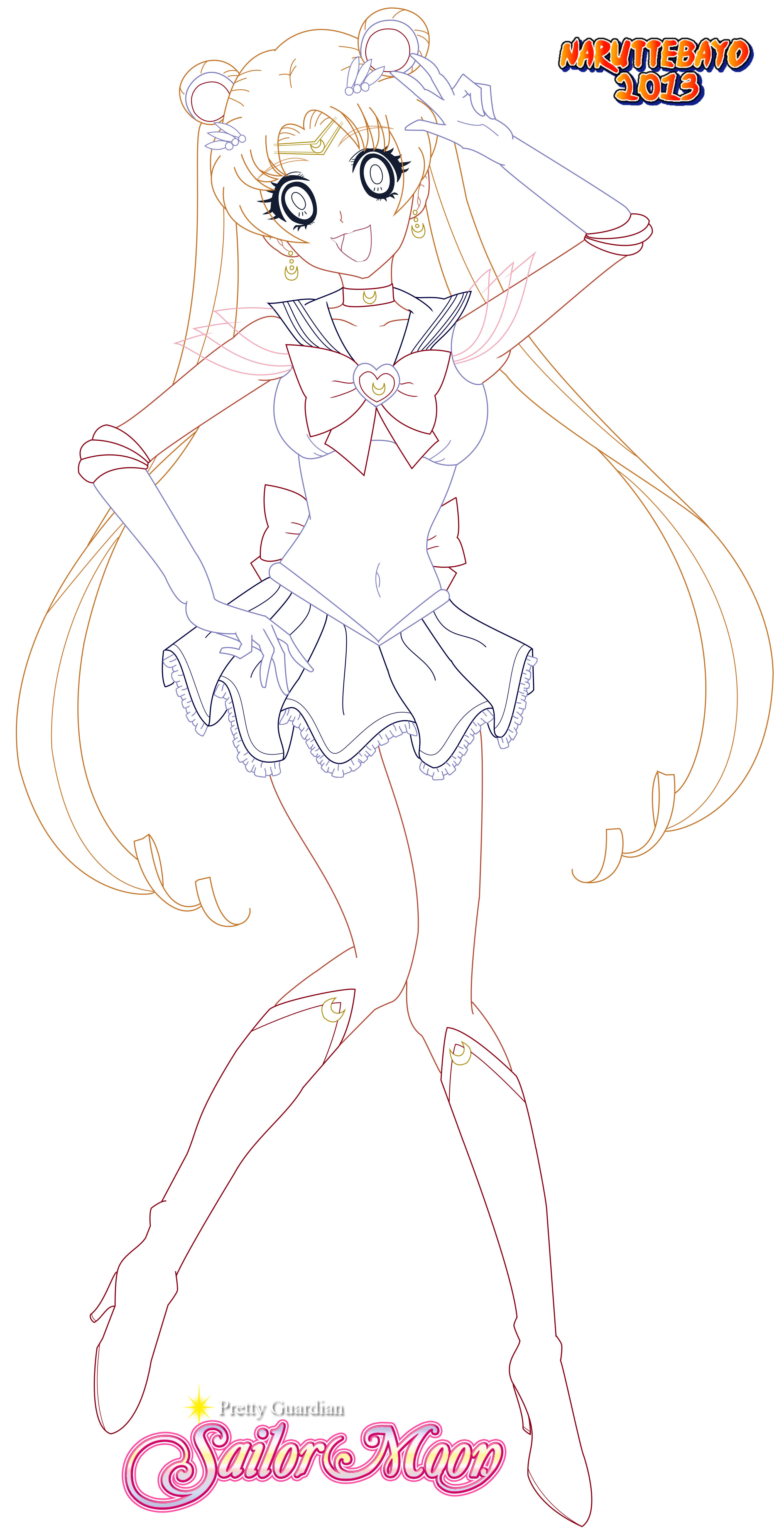Pi drawing sailor. Lineart moon hd by