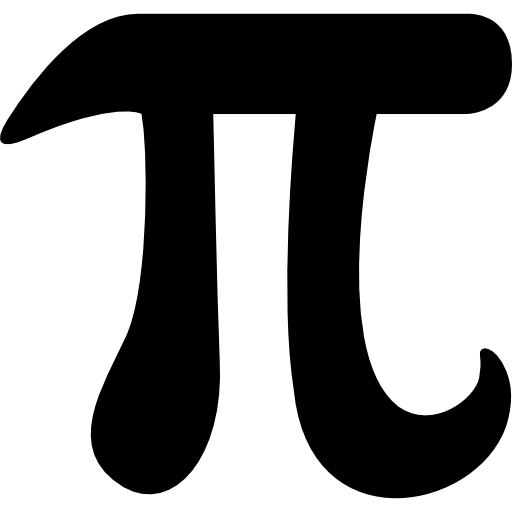 Pi vector black and white. Mathematical constant symbol free