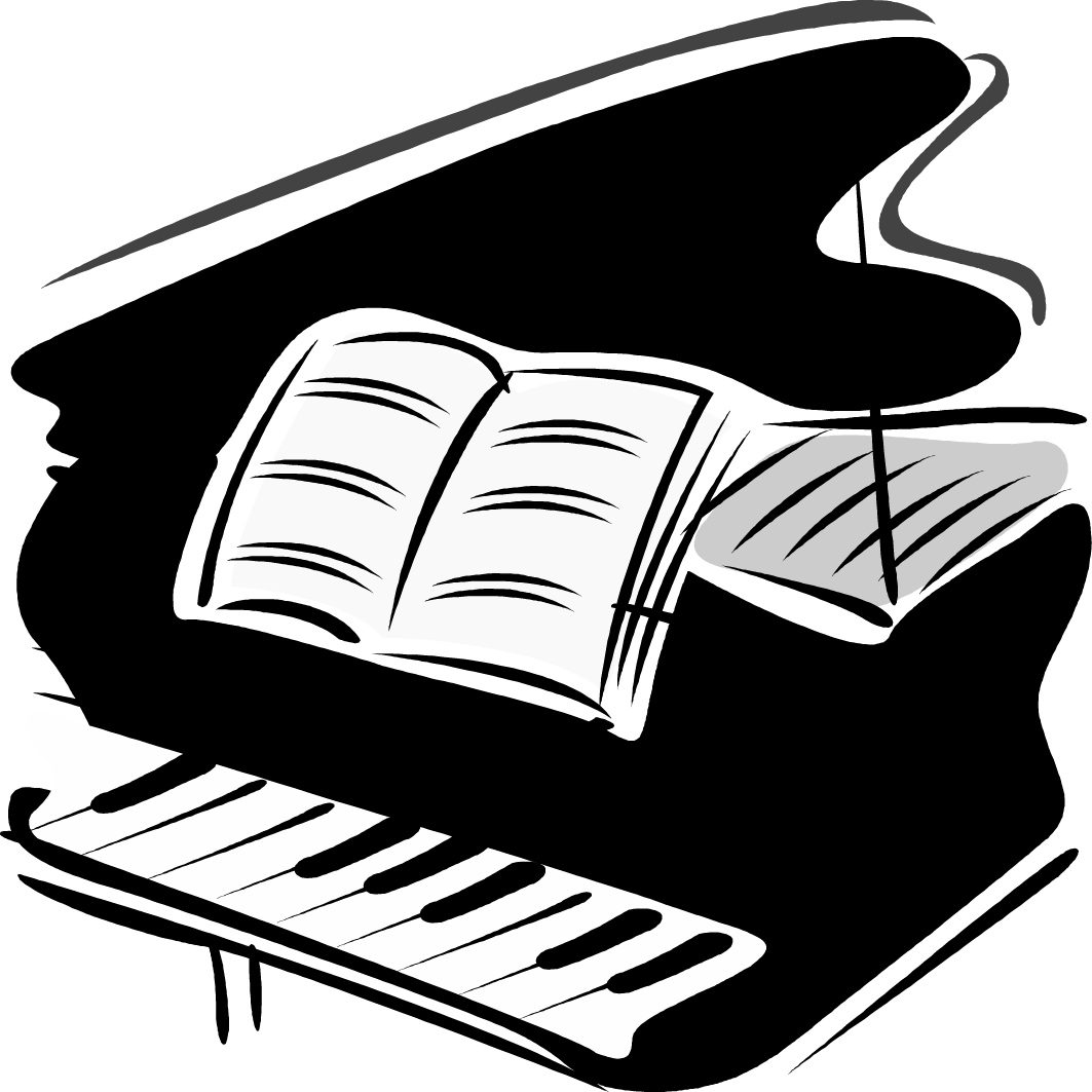 Clip art free download. Piano clipart jpg black and white stock