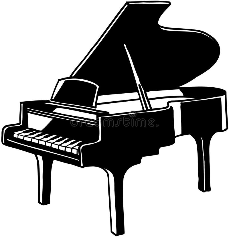 Piano clipart. Grand musical instrument vector clipart freeuse stock