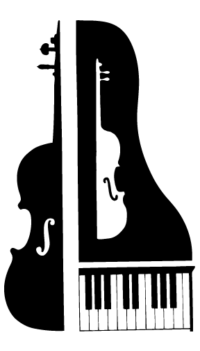 Cello with piano cartoon. Guitar clipart violin png library download