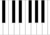 Piano clipart abstract. Keyboard standard key space