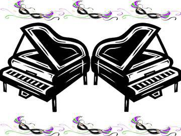 Piano clipart dueling pianos. Event panda free images