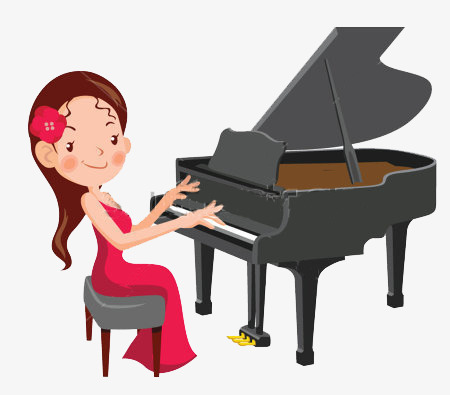 Piano clipart little girl. Music png image and