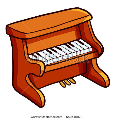 Funny cute brown cartoon. Piano clipart old piano banner transparent download
