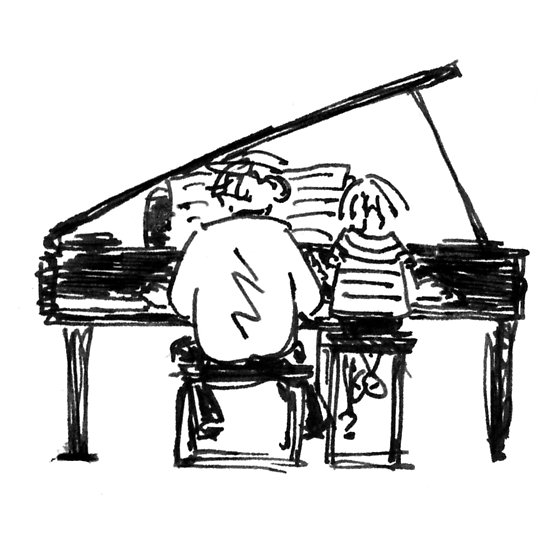 Piano clipart piano duet. Posters by tgd redbubble
