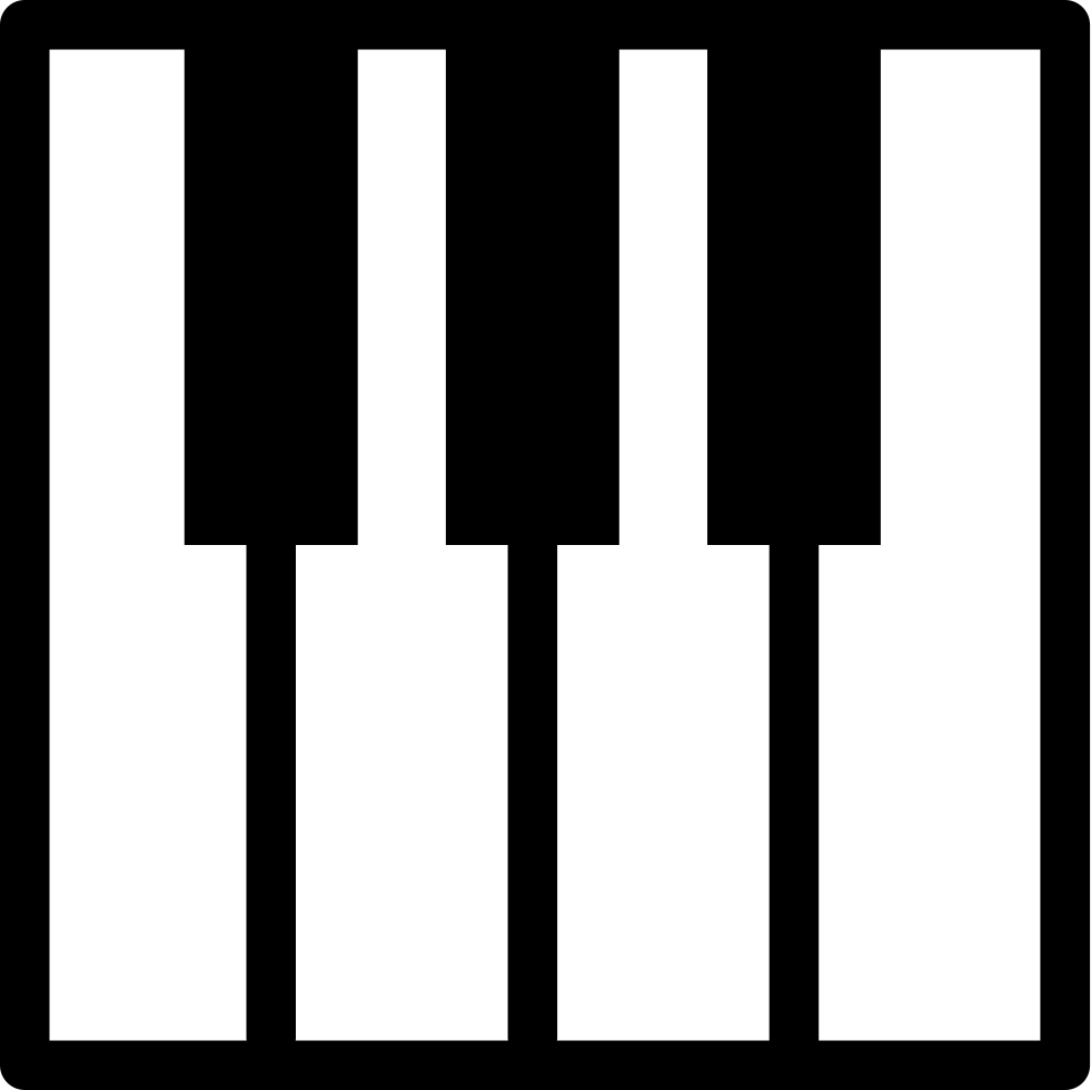 Piano svg keyboard. Silhouette at getdrawings com