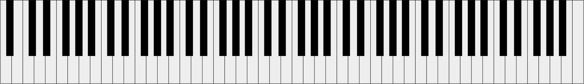 Piano keys png. The keyboard of a