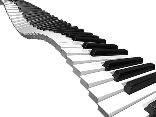 Piano keyboard png. Transparent stickpng