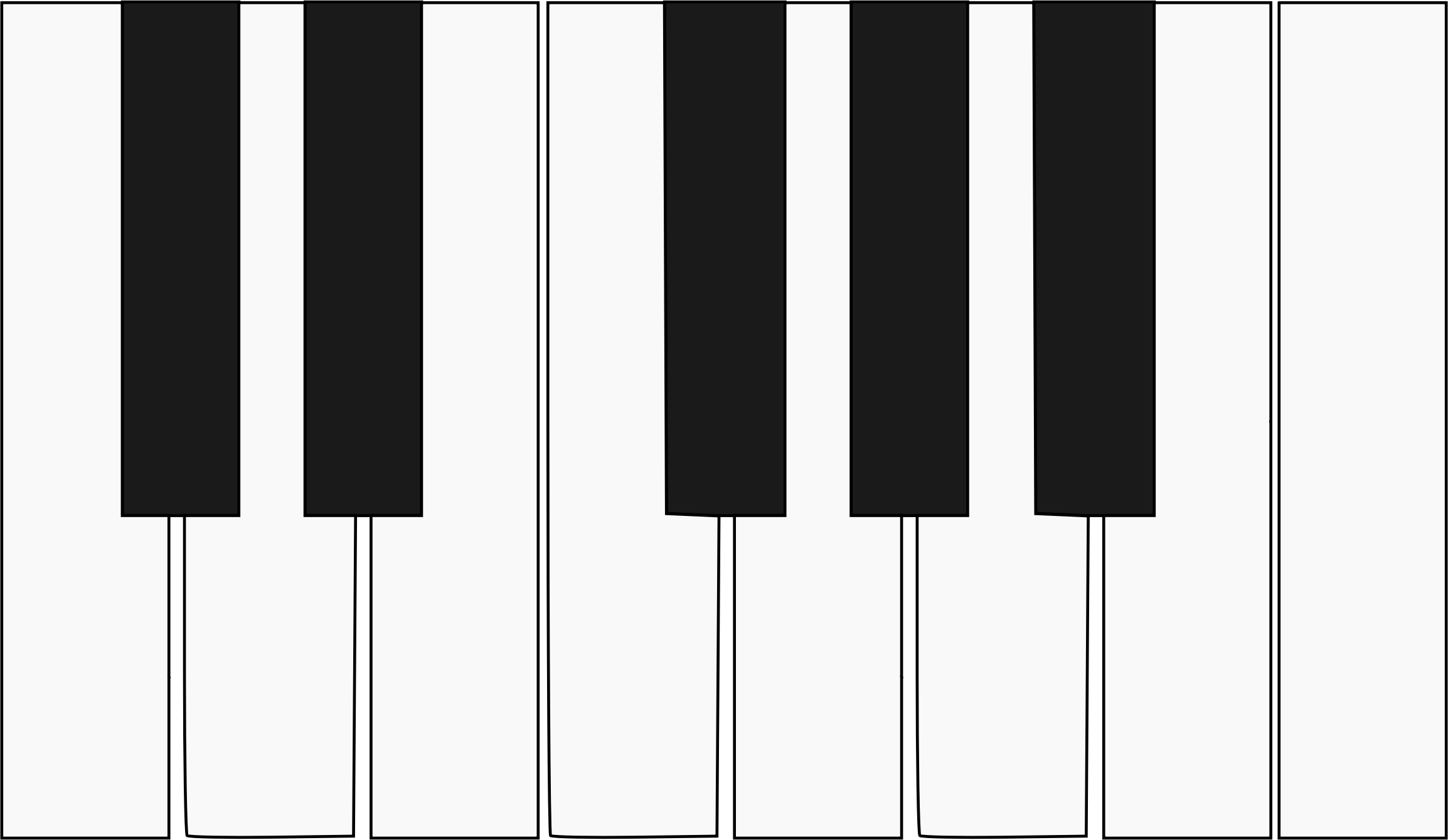 Piano keyboard png. One octave icons free