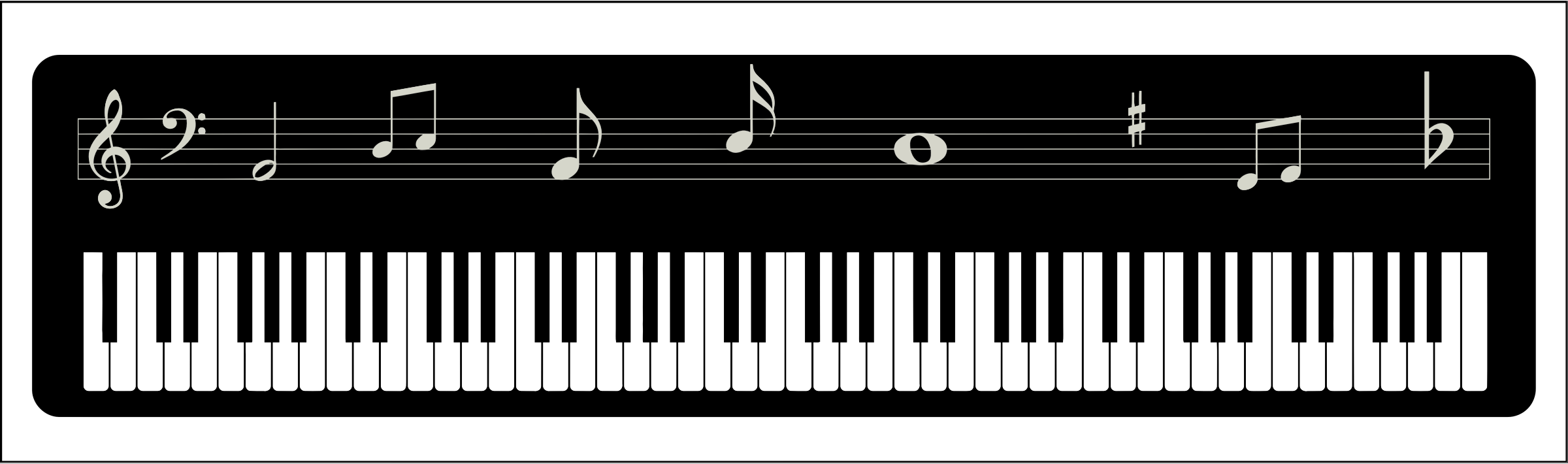 Piano keyboard png. Icons free and downloads