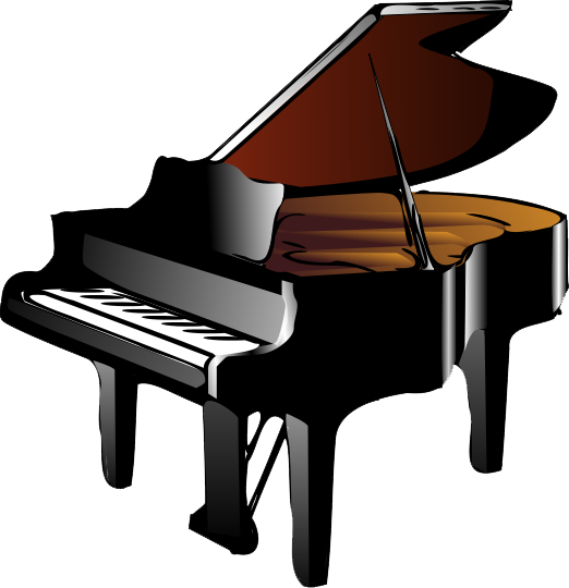 Transparent pianos. Piano png hd images